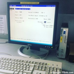 ordinateur pour déposer l'intention de vol lors du pre-vol