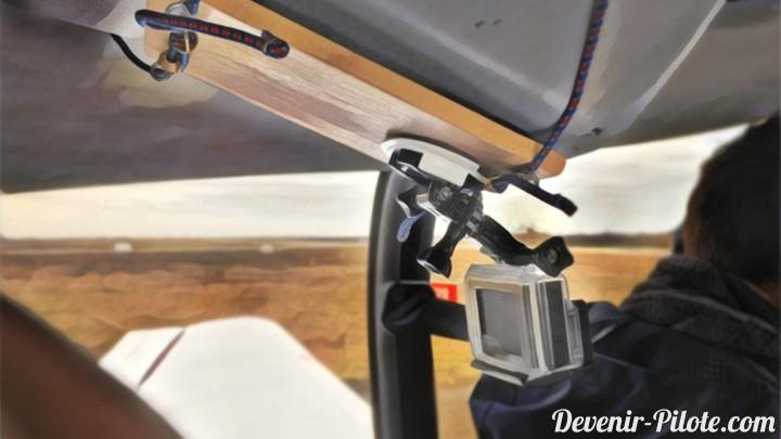 DIY Fixation GoPro dans un avion Robin DR-400