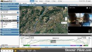 Cloudahoy - Navigation VFR LFMT vers LFNU