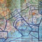 Carte 1:500000 pour navigation aérienne VFR. Secteur Montpellier édité par IGN