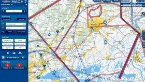 Carte VFR de Mach7.com