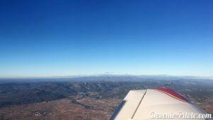 Vue aérienne de Saint Jean-de-Fos en avion DR400