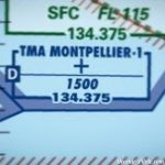 Espaces aériens TMA - Terminal control Area - Terminal Manoeuvring Area - Montpellier