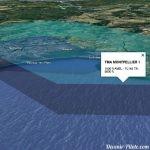 espaces aériens volume 3D - Montpellier TMA et CTR