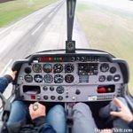 Simulation de panne moteur après rotation sur un Robin DR400