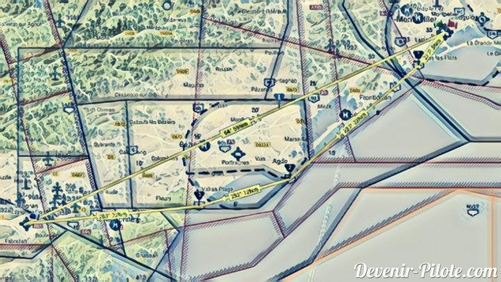 Navigation VFR vers Lézignan-Corbières (LFMZ) (Jour33)