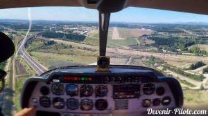 Approche en DR400 à Avignon (LFMV)