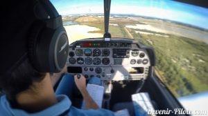 Atterrissage solo lors du PPL à Montpellier avec du vent de travers