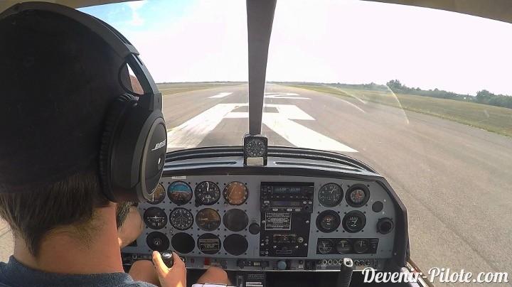Volo Solo à LFMT - décollage piste 12 droite