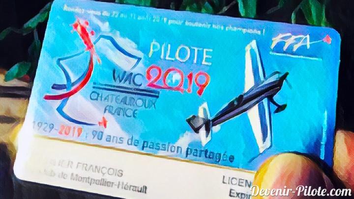 Cotisation Fédération Française Aéronautique 2019