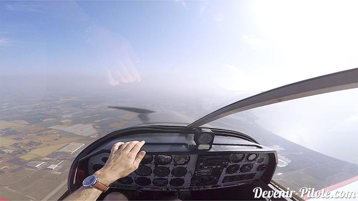 Navigation Solo formation PPL Avion. Visibilité CAVOK mais moyenne