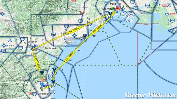 Grande Navigation PPL LFMT-LFMP-LFMZ