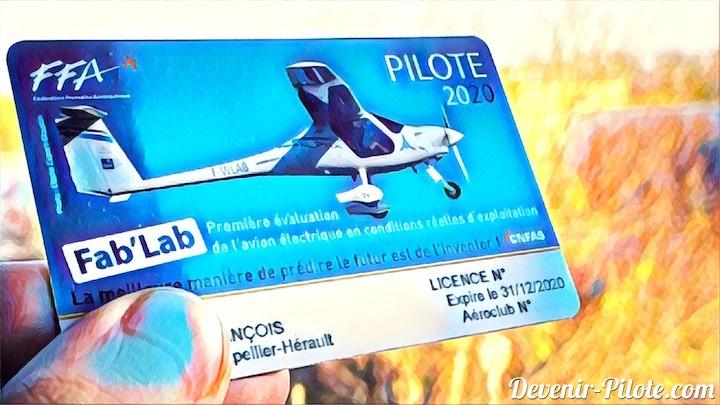 Licence de la Fédération Française Aéronautique 2020